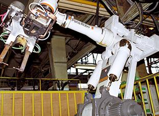 抵抗溶接ロボット